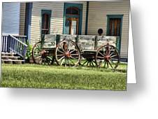 Wagon Wheels In Dodge City Greeting Card