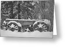 Wagon Wheels June Lake Greeting Card
