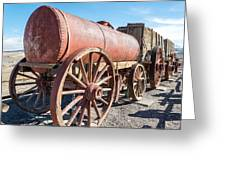 Wagons In The Sun Greeting Card