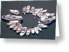 Wagonwheel Wedding Raftup Greeting Card