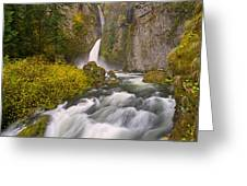 Wahclella Falls Greeting Card