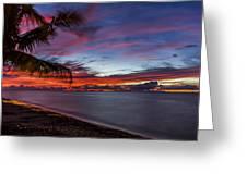 Waialua Sunset Greeting Card