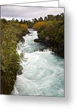 Waikato River Huka Falls Greeting Card