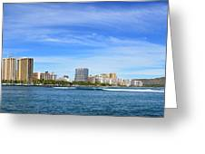 Waikiki And Diamond Head From The West Greeting Card