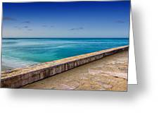 Waikiki Beach Walk Panoramic Greeting Card
