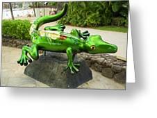 Waikiki Gecko Greeting Card