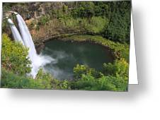 Wailua Falls Kauai Hawaii Greeting Card