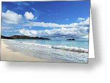 Waimanalo And Bellows Beach 1 Greeting Card