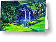 Waimea Falls Lv Greeting Card by Joseph   Ruff