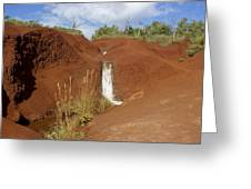 Waimea Waterfall Greeting Card