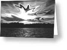 Waining Skies Greeting Card