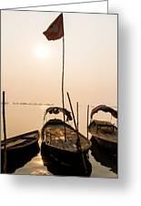 Waiting Boats Greeting Card