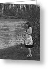 Waiting By The River Greeting Card