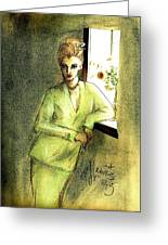 Waiting By The Window Greeting Card