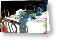 Waiting For Diners Greeting Card
