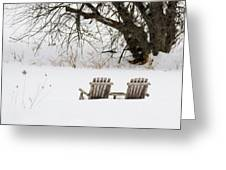 Waiting For The Right Season As An Oil Painting Greeting Card