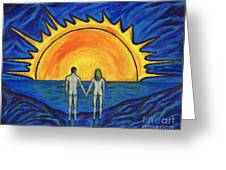 Waiting For The Sun Greeting Card