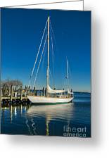 Waiting For Warmer Weather At The Dock Greeting Card