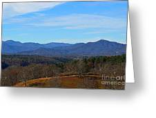 Waiting For Winter In The Blue Ridge Mountains Greeting Card