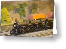 Waiting Model Train  Greeting Card