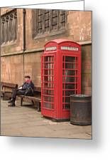 Waiting On A Call Greeting Card by Mike McGlothlen
