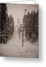 Waiting Ski Lifts Greeting Card