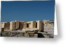 Waiting Tablets At Acropolis Greeting Card