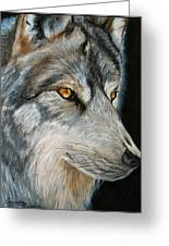 Waiting Wolf Greeting Card