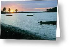 Waitukubuli Sunset Greeting Card