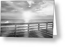 Waking Coast Greeting Card by Betsy Knapp