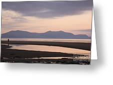 Tranquil Scene On Anglesey Coast Greeting Card