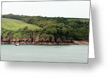 Wales Coastline Panorama Greeting Card