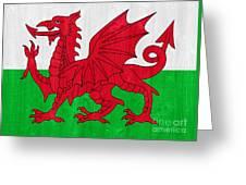 Wales Flag Greeting Card