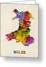 Wales Watercolor Map Greeting Card