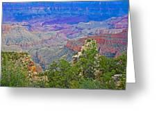 Walhala Overlook On North Rim Of Grand Canyon-arizona  Greeting Card