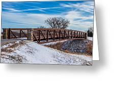 Walk Across Bridge Greeting Card
