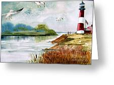 Walk Along The Shore Greeting Card