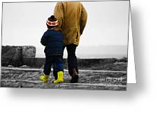 Walk Alongside Me Daddy Greeting Card