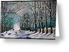Walk Among The Trees Greeting Card by Vickie Warner