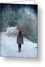 Walk In The Snow Greeting Card