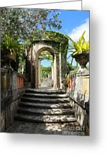 Walk In Vizcaya Gardens Greeting Card