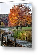 Walk Into Fall Greeting Card