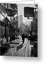 Walk Manhattan 1980s Greeting Card