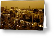 Walk Of Fame Hollywood In Sepia Greeting Card