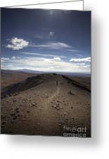 Walk On The Vulcano Greeting Card