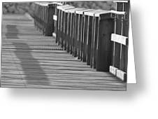 Walk To The Dock Greeting Card