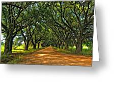 Walk With Me Paint Version Greeting Card