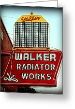 Walker Radiator Works Sign Greeting Card