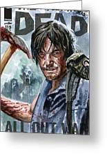 Walking Dead Sketch Cover Daryl Greeting Card