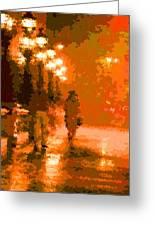 Walking In The Rain 02 Greeting Card